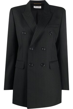 Saint Laurent Double-breasted pinstriped blazer