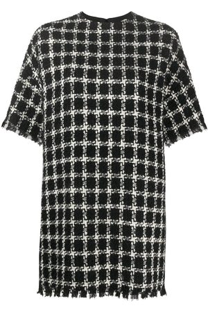 VALENTINO Tweed checkered mini dress