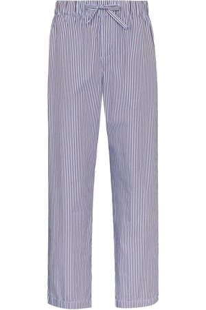 Tekla Striped drawstring pyjama trousers