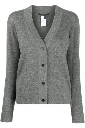 Agnona Women Cardigans - Cashmere fitted cardigan - Grey