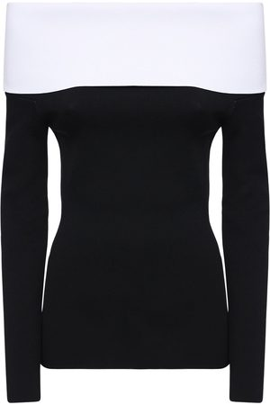 Proenza Schouler Women Strapless Tops - Two Tone Off-the-shoulder Top