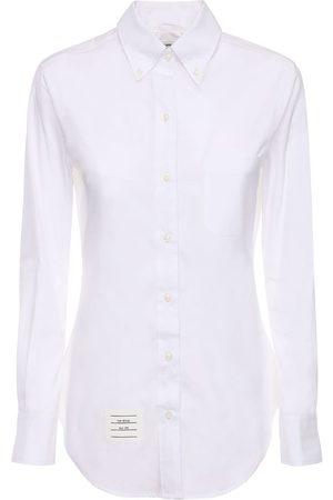 Thom Browne Cotton Poplin Shirt W / Piping Detail
