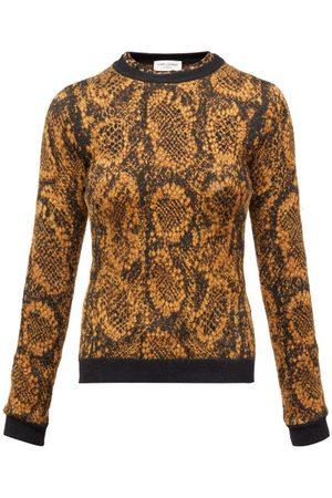 Saint Laurent Women Sweaters - Snake Jacquard-knit Sweater - Womens
