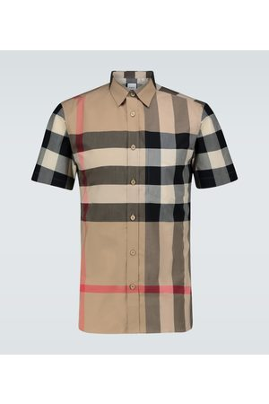 Burberry Men Short sleeves - Somerton checked shirt