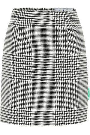 OFF-WHITE Women Mini Skirts - Houndstooth high-rise miniskirt
