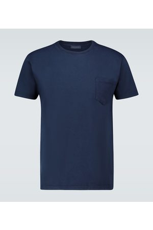 Thom Sweeney Washed cotton T-shirt
