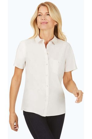 Foxcroft Women Short sleeves - Hampton Pinpoint Non-Iron Short Sleeve Shirt