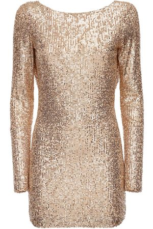 In the Mood for Love Moss Sequined Mini Dress