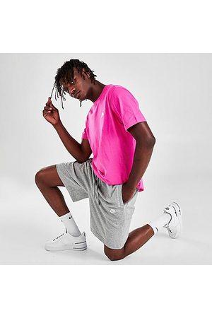 Nike Men's Sportswear Club Fleece Shorts in Grey/Dark Grey Heather Size X-Small 100% Cotton/Fleece/Jersey