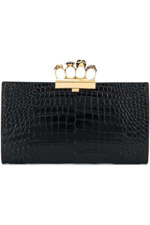 Alexander McQueen Four Ring embossed clutch bag