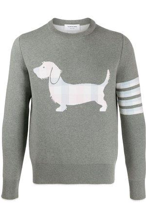 Thom Browne Hector icon jumper - Grey
