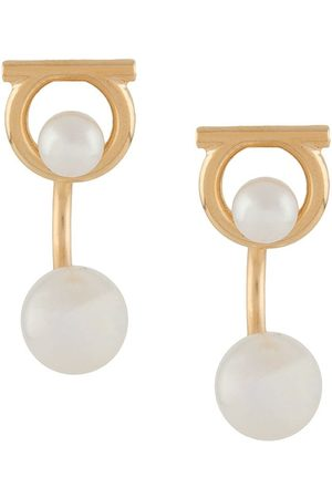Salvatore Ferragamo Women Earrings - Gancini faux-pearl jacket earrings