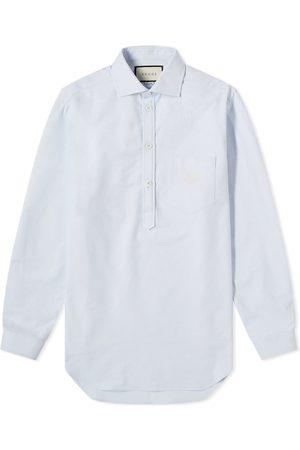 Gucci Men Shirts - Logo Popover Oxford Shirt
