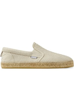 Jimmy Choo Vlad textured leather loafers - Neutrals