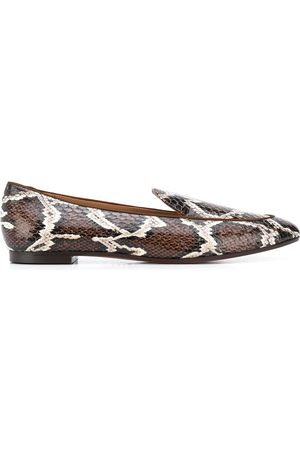 Aquazzura Snakeskin-effect loafers