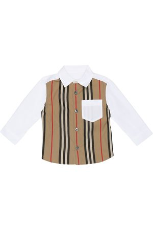 Burberry Baby Icon Stripe stretch-cotton shirt