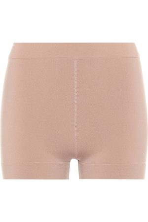 Alaïa High-rise wool-blend shorts