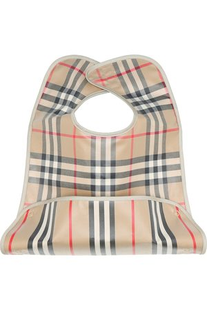 Burberry Baby Vintage Check coated cotton bib