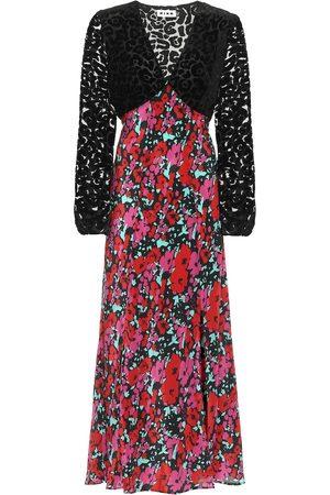 RIXO London Melanie floral silk midi dress