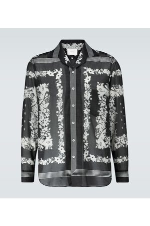 Nanushka Long-sleeved floral cotton shirt