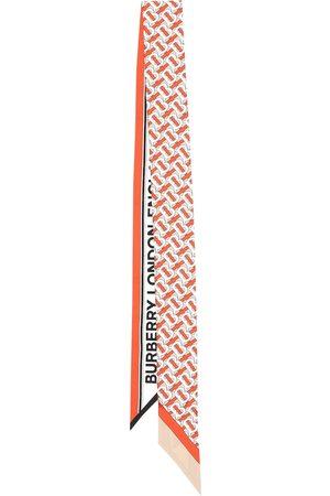 Burberry Logo silk twill scarf
