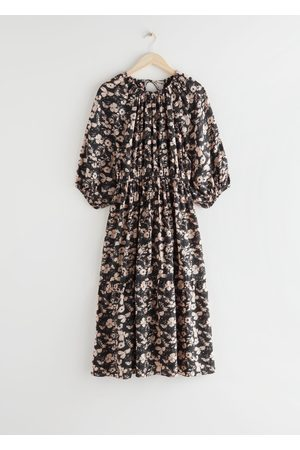 & OTHER STORIES Voluminous Raglan Sleeve Midi Dress