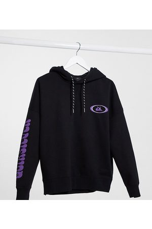 Quiksilver Boxy Fleeced hoodie in washed Exclusive at ASOS
