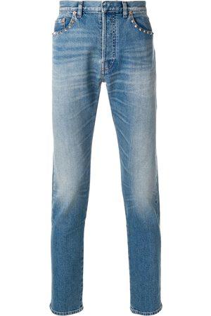 VALENTINO Men Straight - Straight-leg rockstud jeans