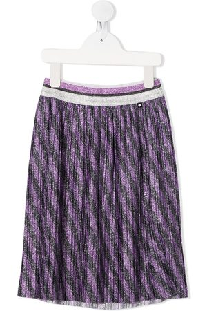 Molo Girls Printed Skirts - Striped-print pleated skirt