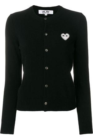 Comme des Garçons Women Cardigans - Heart logo cardigan