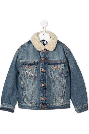 Diesel Boys Denim Jackets - Shearling collar denim jacket