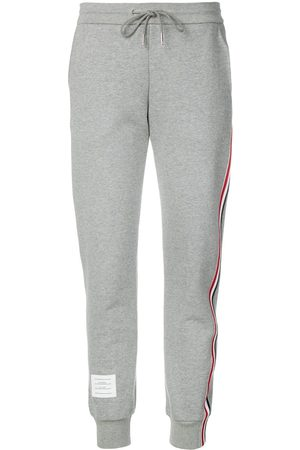 Thom Browne Classic Loopback Stripe Sweatpants - Grey