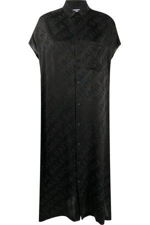 Balenciaga Logo jacquard shirt dress