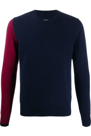 Maison Margiela Colour-block crew-neck jumper