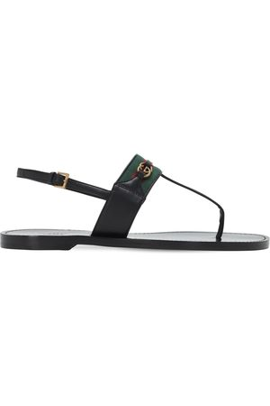 Gucci 10mm Siryo Leather Thong Sandals