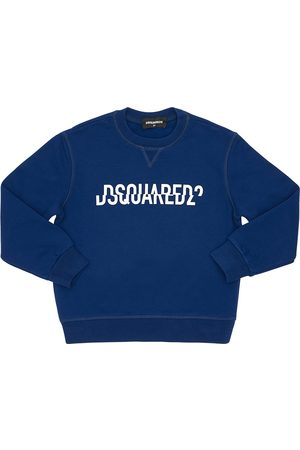 Dsquared2 Split Logo Print Cotton Sweatshirt
