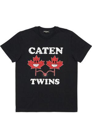 Dsquared2 Boys T-shirts - Twins Printed Cotton Jersey T-shirt