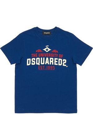 Dsquared2 University Printed Cotton Jersey T-shirt