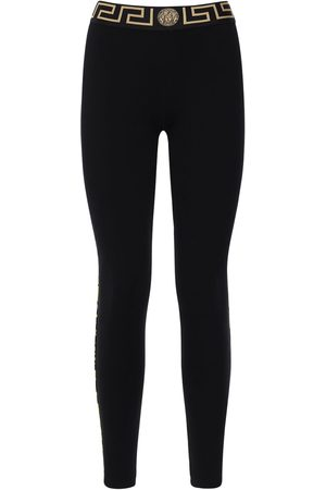 VERSACE Stretch Jersey Leggings