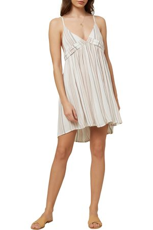 O'Neill Women's Saltwater Solids Stripe Cover-Up Tank Dress