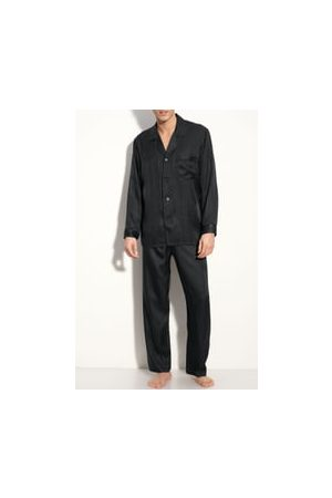 Majestic Men's Herringbone Stripe Silk Pajamas