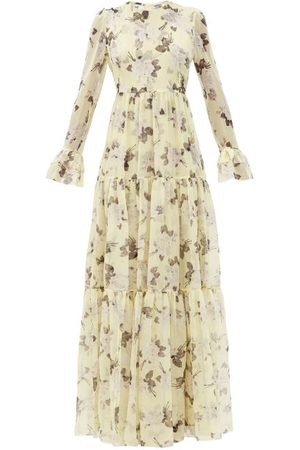 Erdem Alvaro Rosemont Wallpaper-print Silk Gown - Womens - Print