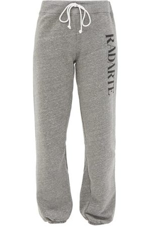 RODARTE Radarte-print Fleeceback-jersey Track Pants - Womens - Grey