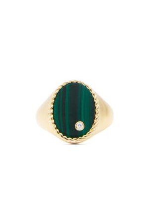 YVONNE LÉON Women Rings - Diamond, Malachite & Signet Ring - Womens