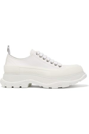 Alexander McQueen Chunky-sole Canvas Trainers - Womens