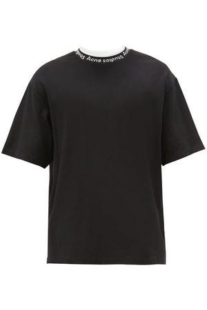 Acne Studios Men T-shirts - Extorr Logo-neck Jersey T-shirt - Mens