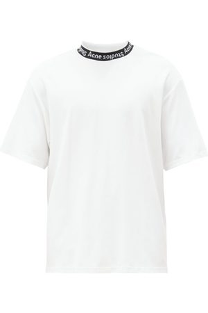 Acne Studios Men T-shirts - Extorr Logo-neck Jersey T-shirt - Mens