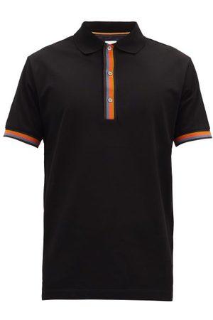 Paul Smith Artist-stripe Cotton-piqué Polo Shirt - Mens