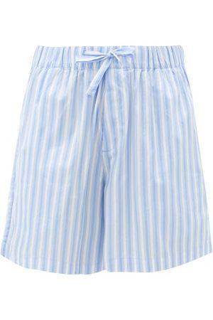 Tekla Women Pajamas - Striped Organic-cotton Poplin Shorts - Womens - Stripe