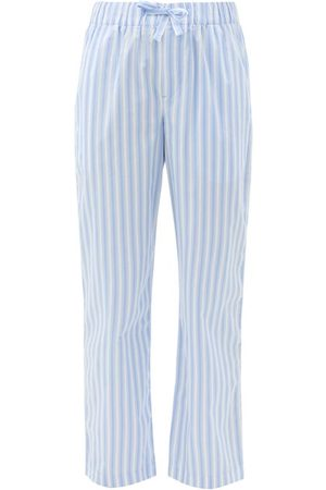 Tekla Striped Organic-cotton Pyjama Trousers - Womens - Stripe